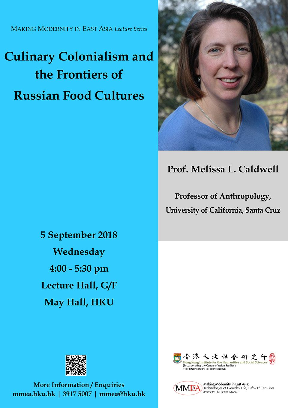 "MMEA Lecture Series ""Culinary Colonialism and the Frontiers of Russian Food Cultures"" by Professor Melissa L. Caldwell (September 5, 2018)"