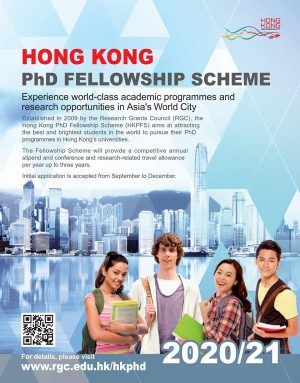 Poster of 2020-21 Hong Kong PhD Fellowship (HKPF) Scheme