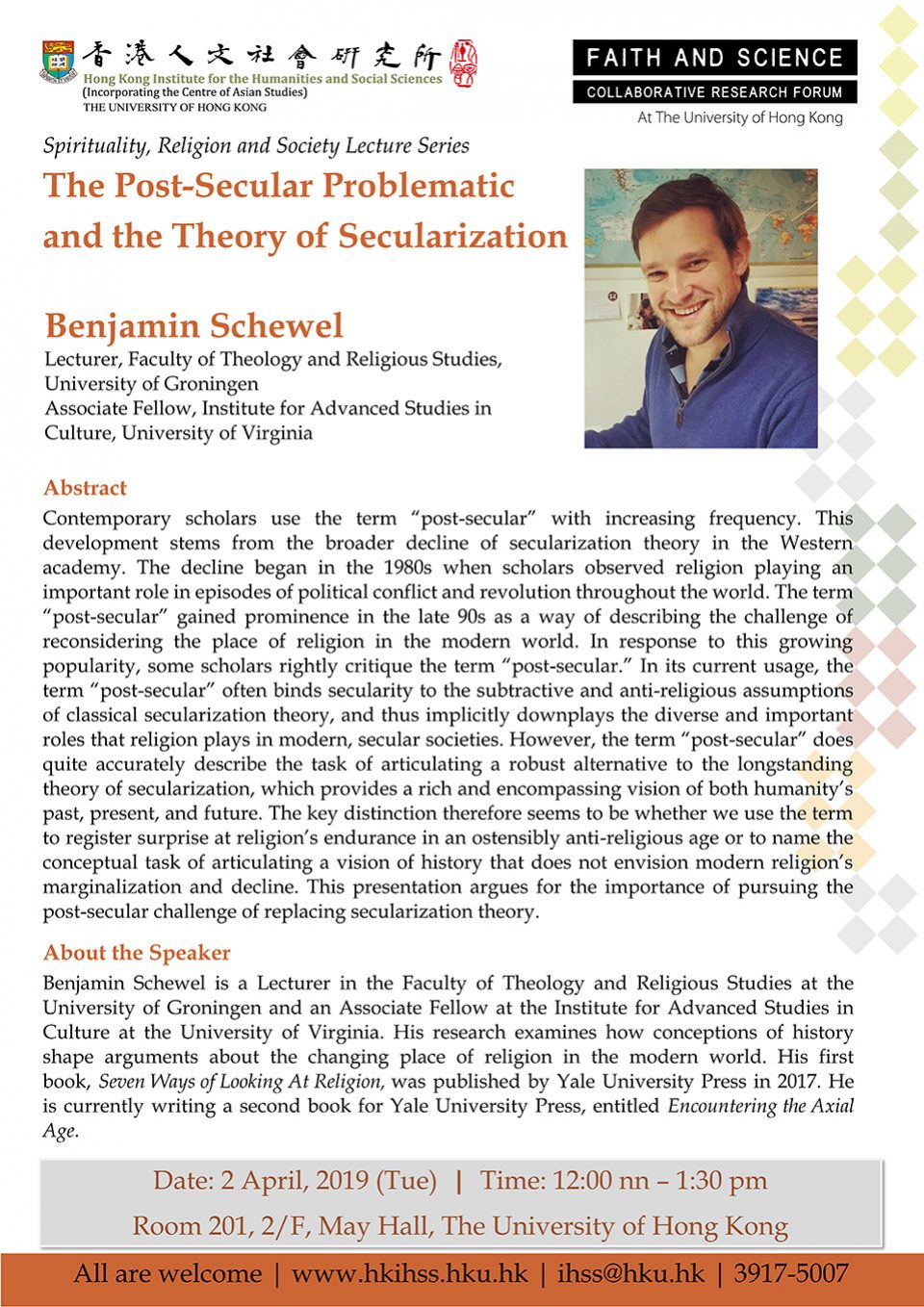 Spirituality, Religion and Society Lecture Series: